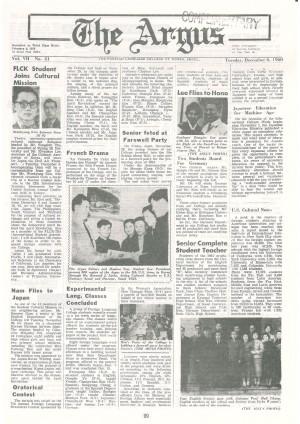 Argus Vol.Ⅶ No.31(Dec. 06. 1960)