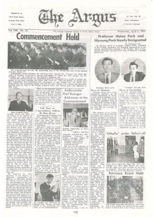 Argus Vol.Ⅷ No.35(Apr. 05. 1961)