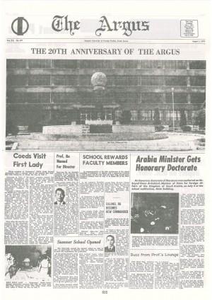 Argus Vol. XXNo.157(Aug. 01. 1974)