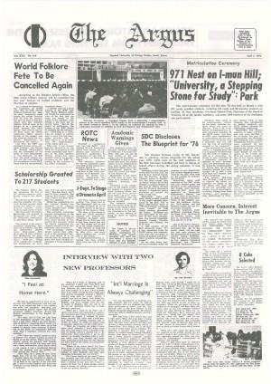 Argus Vol.XXII No.169(Apr. 01. 1976)
