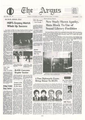 Argus Vol.XXII No.175(Nov. 01. 1976)