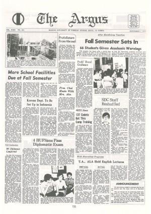 Argus Vol.XXIII No.183(Sept. 01. 1977)