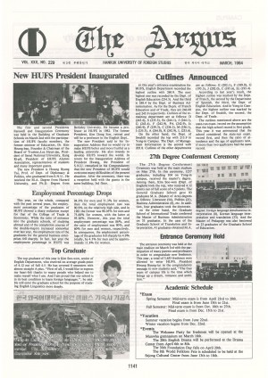 Argus Vol.XXX No.229(Mar. 01. 1984)