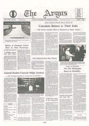 Argus Vol.ⅩⅩⅩⅤ No.261(Apr. 01. 1989)
