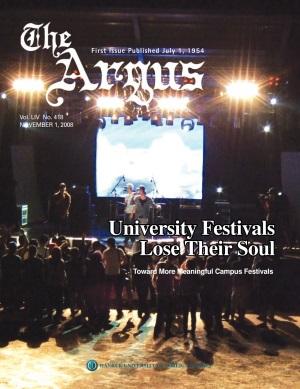 Argus Vol.LIV No.418 (Nov. 01. 2008)